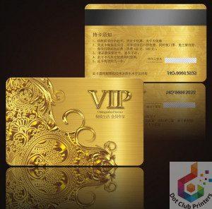 Golden Pvc Cards Printing Dot Club Printers Faisalabad