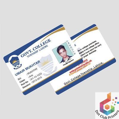 PVC Cards,PVC Emboss Cards,Dot Club Printers Faisalabad